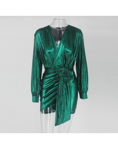 Slaygirl Wrap Bandage Bodycon Dress Women Sexy Party Dresses Elegant Deep V Neck Mini Autumn Spring Dress 2019 Vestidos - SG...