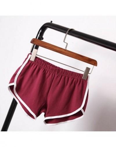 Summer Street Shorts Women Elastic Waist Short Pants Women All-match Loose Solid Soft Cotton Casual Short Femme - JR - 4Z390...