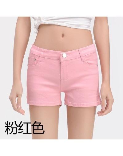Summer Shorts Women Sexy Shorts Soft Stretch Multi-colors Mid Waist Slim Mini Shorts Women Casual Cotton Shorts Plus Size - ...
