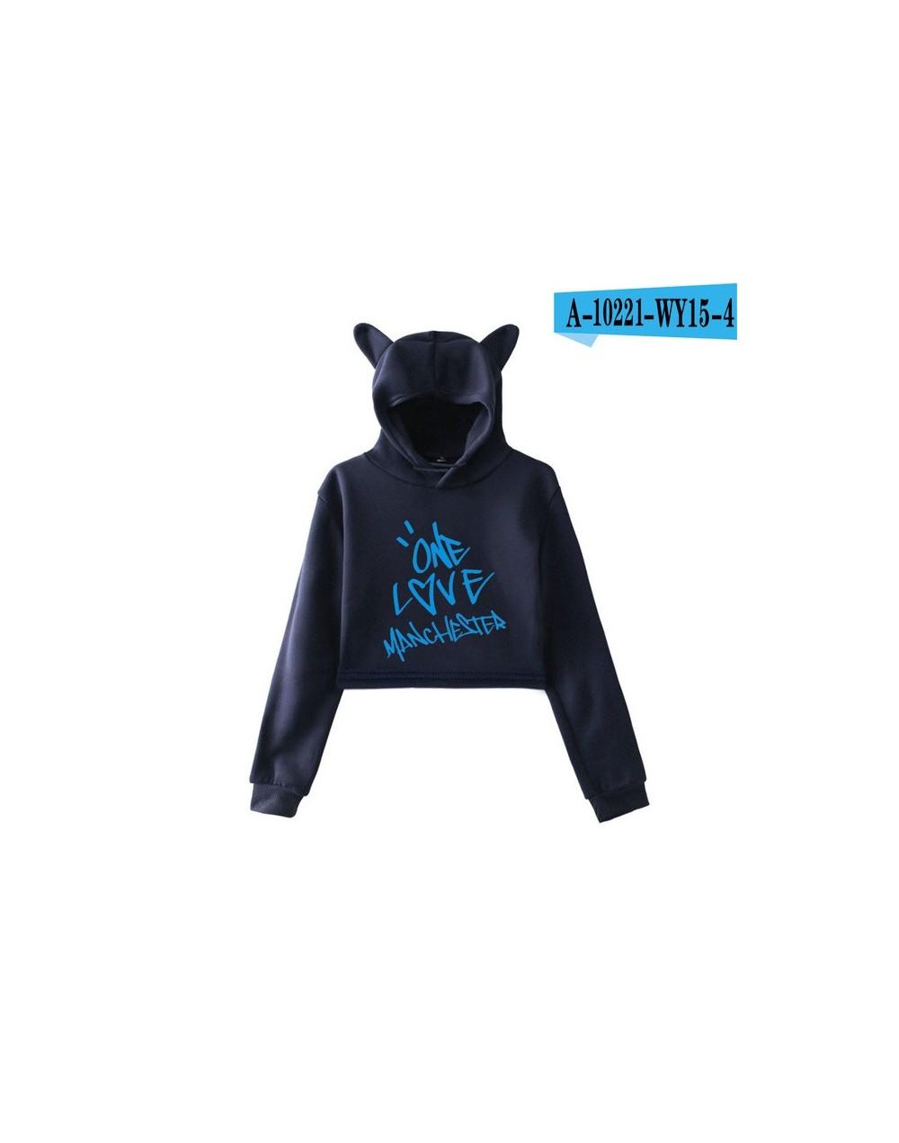 Ariana Grande Thank you next Hoodies Cat Ear Sweatshirt HighStreet Women Casual Fashion Hoodies Sweatshirt Print Outwear - N...