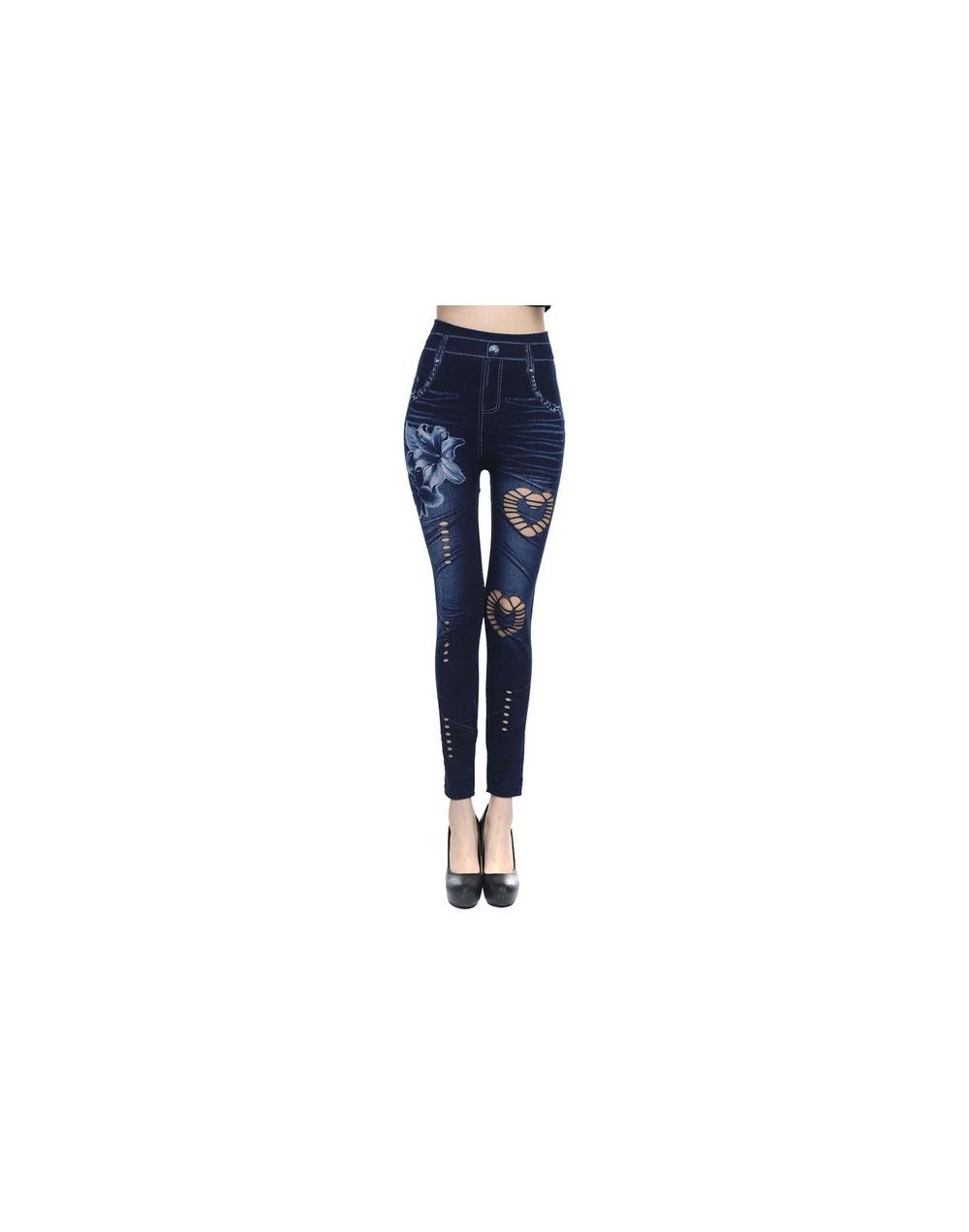 2019 Plus Size Women Stretch High Waist Skinny Embroidery Jeans Floral Holes Denim Pants Trousers Women Jeans Pencil Pant - ...