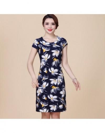 Women Dress 2019 Summer Style Slim Tunic Milk Silk Print Floral Casual Plus Size Vestido Feminino Loose Dresses Clothes L-5X...