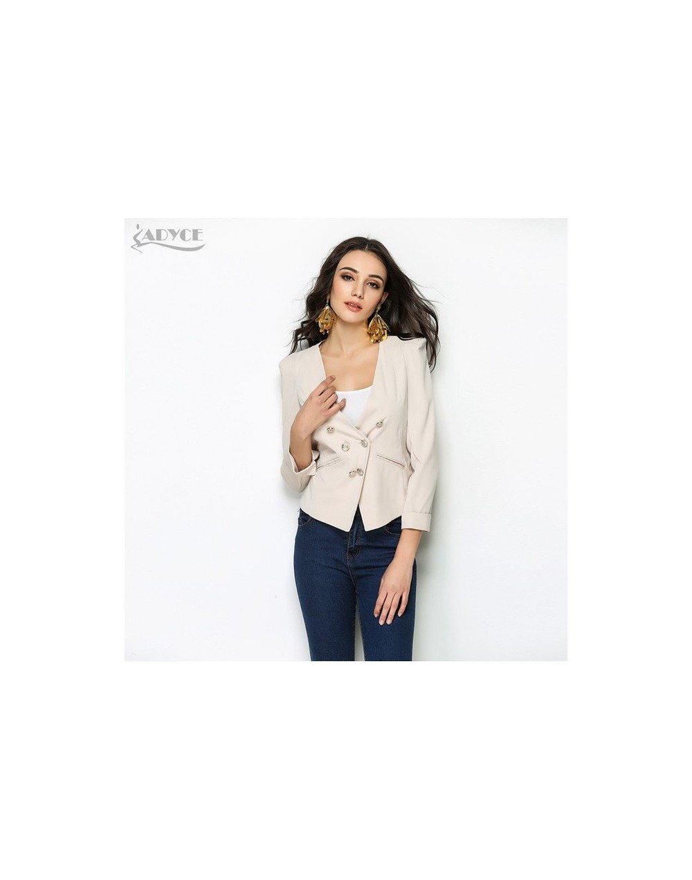 2019 New Summer Blazer Women Coat Apricot White Back Mesh Celebrity Runway Party Coats Elegant Lady Blazers - apricot - 4039...