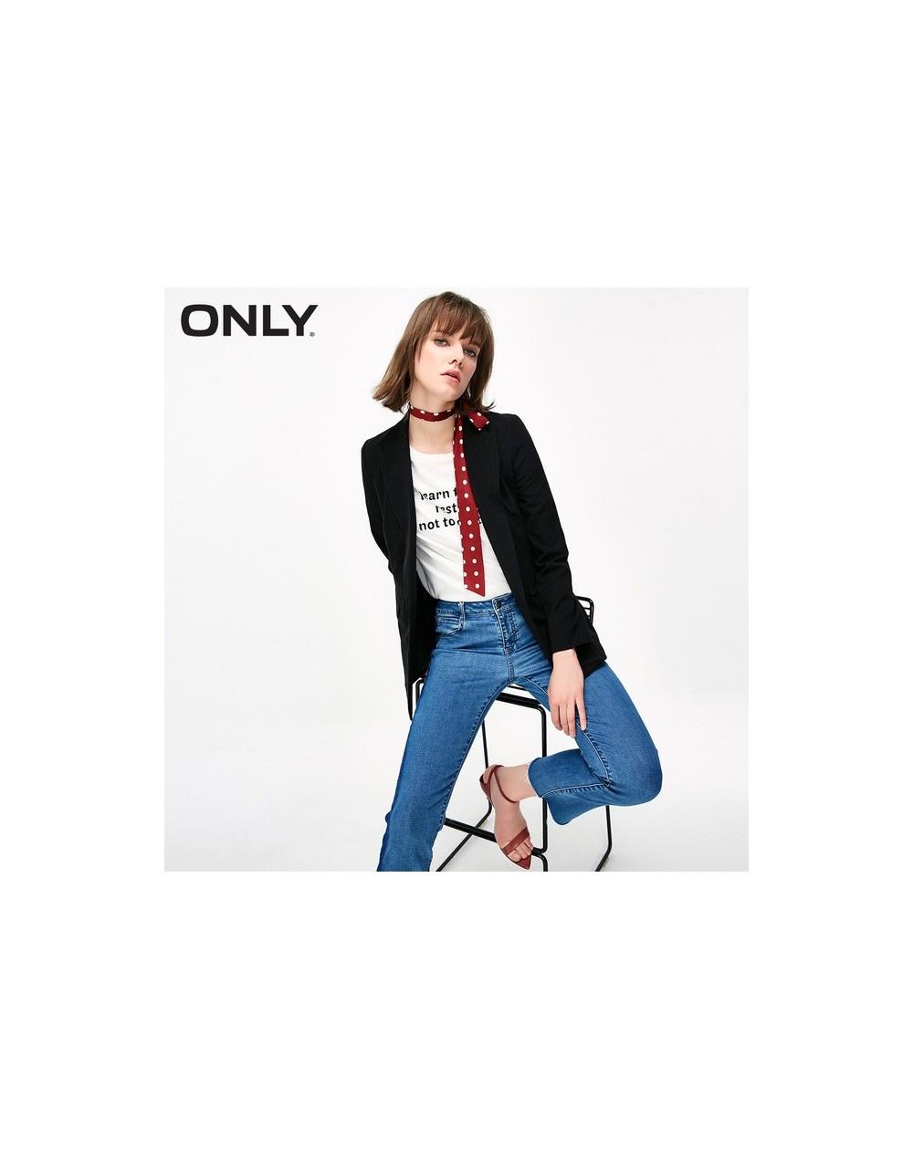 Women's Black and White Stripe Blazer 119308507 - BLACKANDWHITE - 5S111230364099