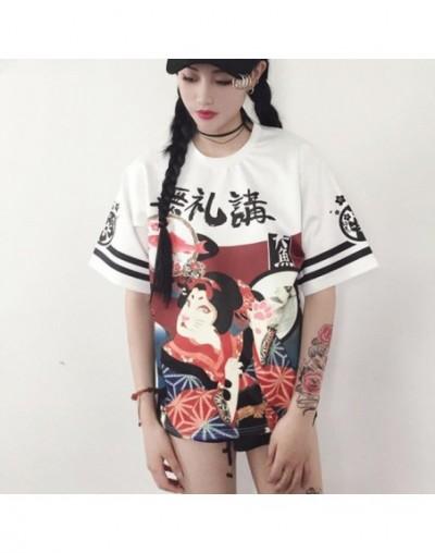 Japanese Girl Women Clothing Tops Loose Maxi T-shirt Student Teenager Short Sleeve Letter Tops Women - White - 403802402691-2