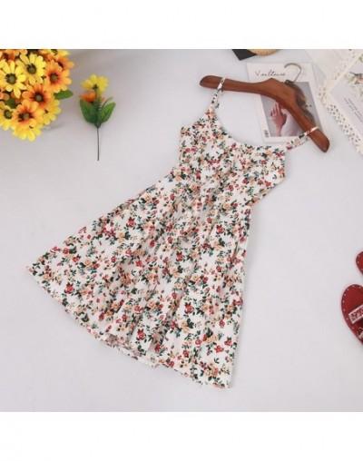 Sexy V Neck Spaghetti Strap Summer Sundress Women Floral Print Slim High Waist Backless Beach Dress Lady Short Dresses - 8 -...