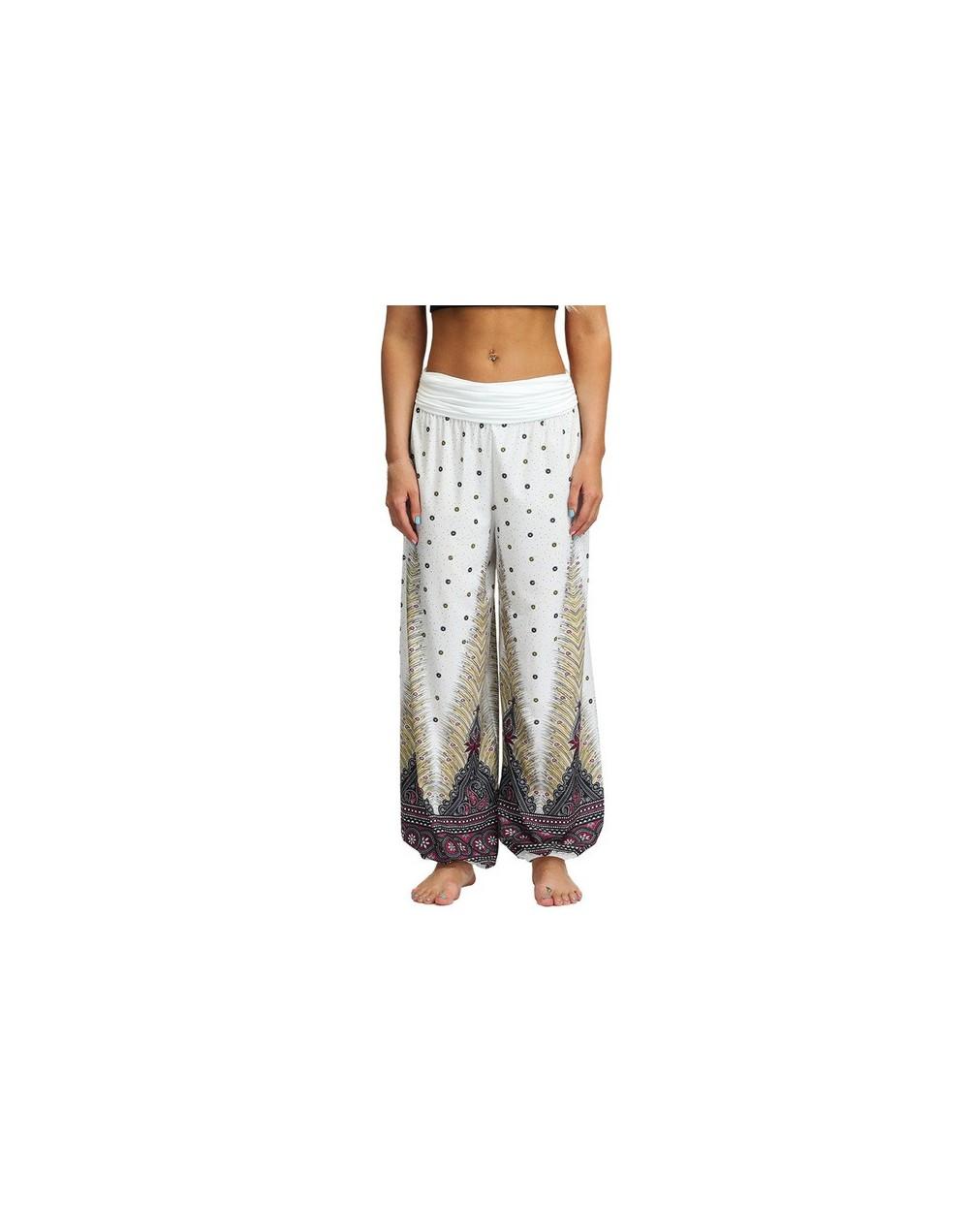 2019 Casual Men Women pants Thai Harem Trousers Hippy Baggy Boho Loose Aladdin Boho Festival Hippy Smock High Waist Pant 5.1...