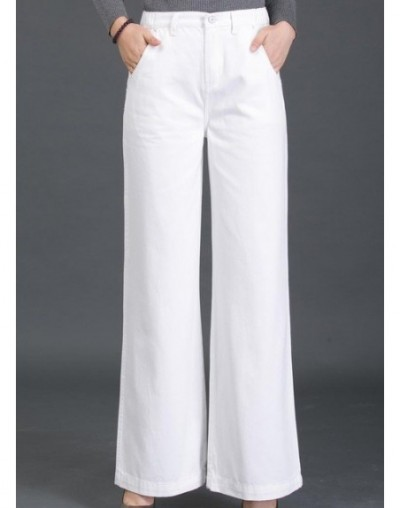 2018 New Female Elegant Wide Leg Flare Jeans for women High Waist Womens Jeans large Sizes Straight women's Jeans black whit...