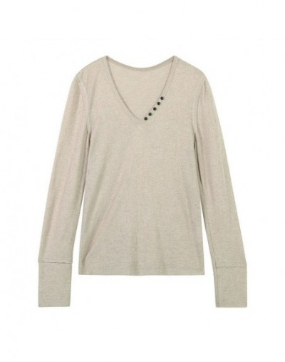 2019 New Women Sweater Casual Solid V-Neck Hand Knitted Female Pullovers Skinny Sexy Long Sleeve Femme Sweater Tops - Khaki ...