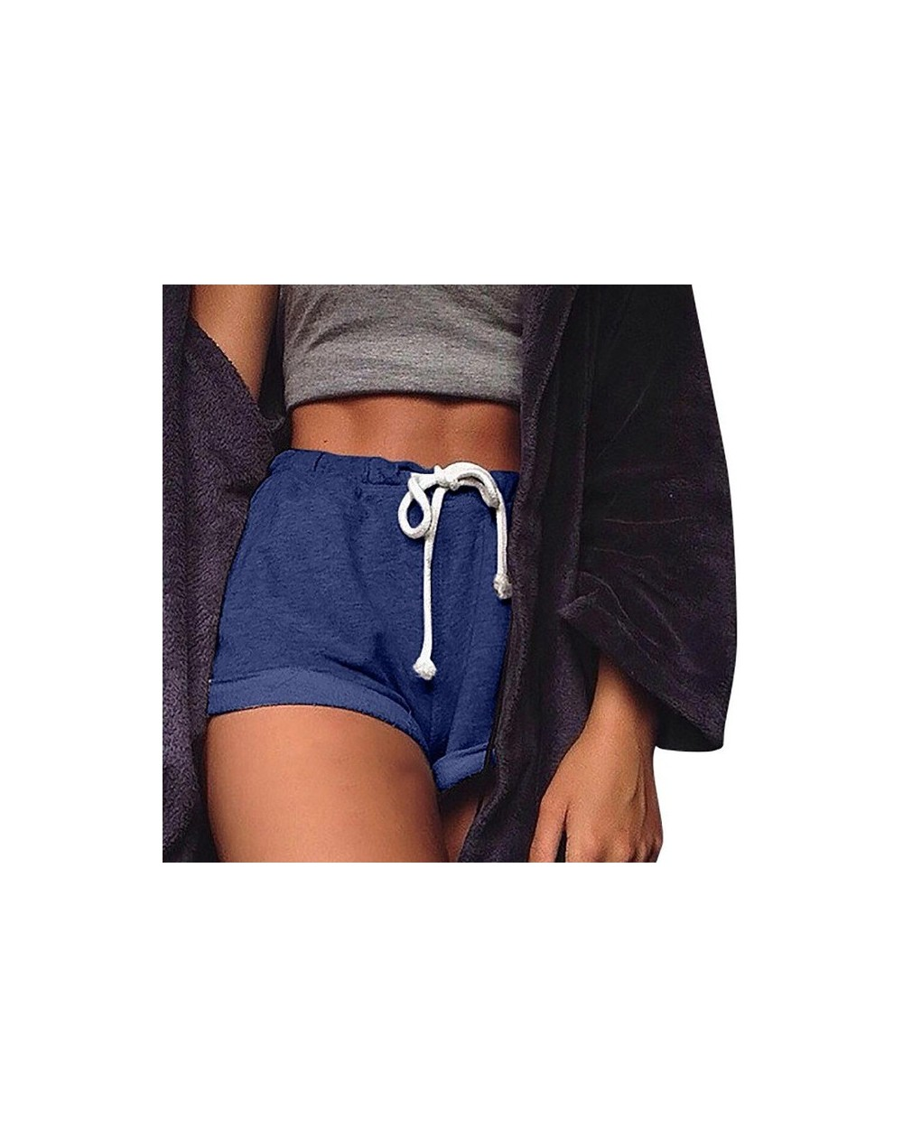 2018 Women Solid Shorts Causal Sexy Home Shorts Women's Fitness Trousers Amazing hot sale Jun 13 - Blue - 4K3998994039-2
