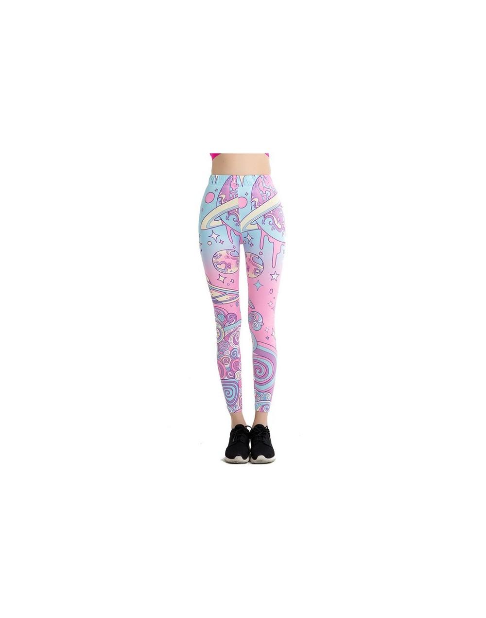 Wholesale Cartoon Pink Print Leggings Kawaii Pattern Harajuku Pencil Pants Women 2017 Fitness Leggins Female Jeggings WAIBO ...