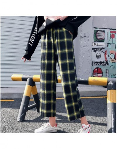 Harajuku Streetwear Plaid Pants Women High Waist Summer Loose Wide Leg Pants korean Hip Hop pants trousers women pantalon mu...