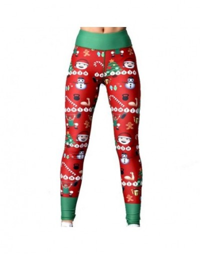 Women Printing Leggings Put Hip Elastic High Waist Legging No Transparent Fitness leggings No Transparent Breathable Pants -...