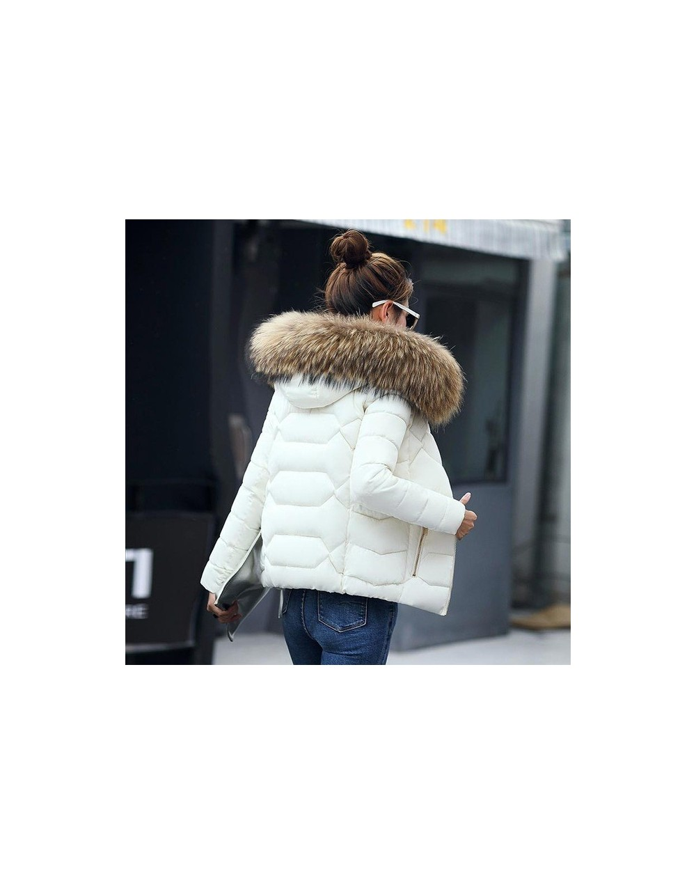 Winter jackets women 2019 tops new hot fur collar hooded female parkas women coats warm down cotton outerwear winter coat wo...