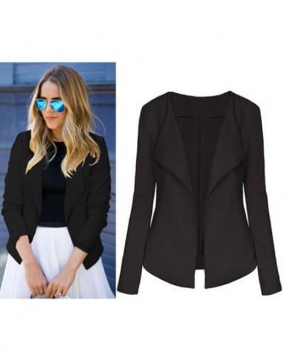 Elegant Women Blazer Jacket Female Casual Slim Fashion Suit Coat Ladies V Neck Long Sleeve Chic Cardigan Tops Outwear - blac...