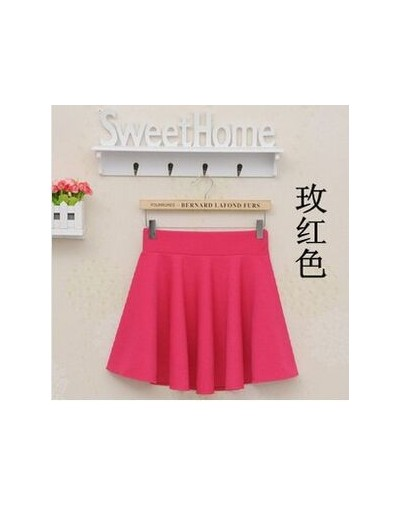 2015 Summer Women New Lined Anti Emptied Pleated Skirts High Waist Casual Solid Shorts Skirts A718 - Rose - 4Z3554316010-6