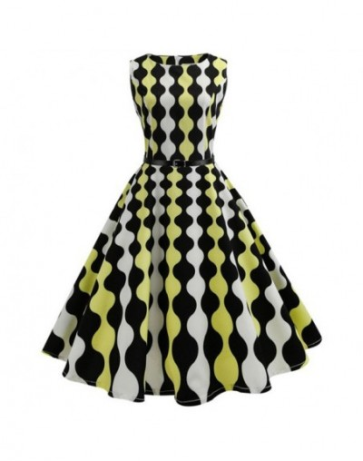 2019 Floral Print Summer Women Dress Hepburn 50s 60s Retro Swing Vintage Dress A-Line Party Dresses With Belt Jurken Plus Si...