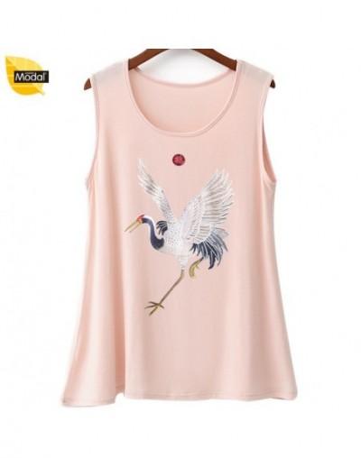 XL-7XL tank top plus size women tops 2018 new summer modal tshirt ladies print bottom U-collar bottoming print T shirts - 5 ...