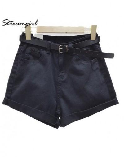 High Waist Shorts Denim Women Short Jeans White Vintage Denim Shorts High Waist For Women Black Short Feminino Summer - Blac...