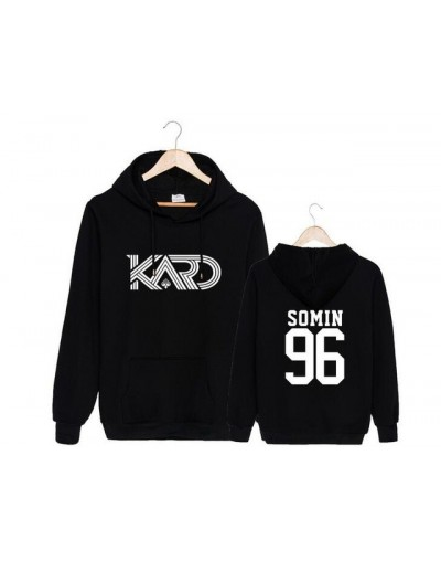 Kpop k.a.r.d kard album hola hola same member name printing fleece sweatshirt autumn winter k-pop unisex loose pullover hood...