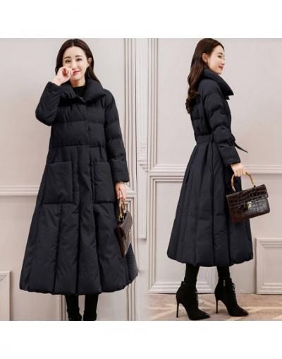 2018 New Winter Women Down Cotton Long Jacket Female Fashion Adjustable Waist Warm Coat Outwear Ladies Casual Elegant Parkas...