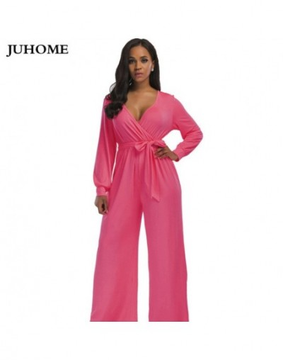 fashion nova Garden long jumpsuits 2018 autumn winter pink wide leg flare trousers Casual Party Elegant women rompers overal...