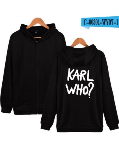 Karl Zipper Hoodies Sweatshirt Highsreet Famous Designer Casual 2019 New Streetwear Winter/Autumn Fashion Zippers - black - ...