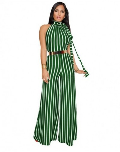 Elegant Women Striped Jumpsuit Sleeveless Backless Wide Leg Pants 2019 Hot Summer Beach Casual Sexy Romper Clothes For Women...