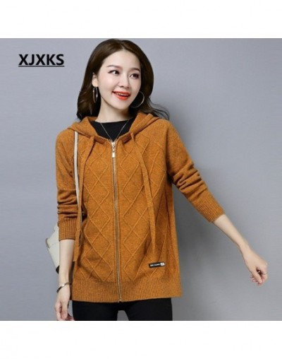 jersey mujer good quality cardigan women coat hooded brand design comfortable wool knit wear womens cardigan sweater - Brown...