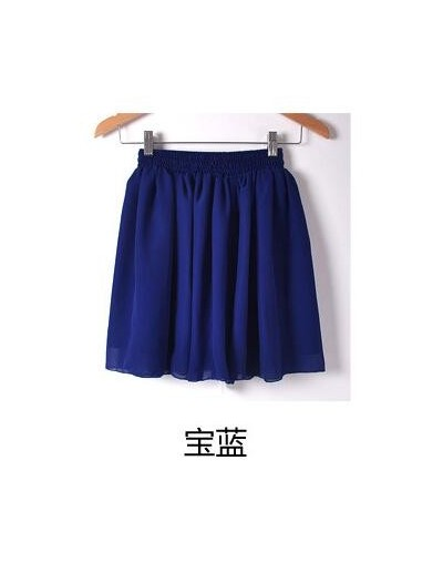 Women Fashion Tulle Summer skirt Wind Cosplay skirt kawaii Female Mini Skirts Short Under - Royal blue - 463095682670-4