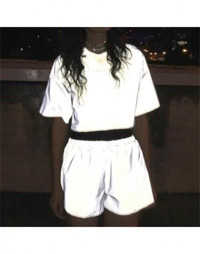Fashion Women Reflective Short Pants Female Jogger Shorts Shiny Hip Pop Fluorescent Short Sport Trousers Club Wear - 4330239...
