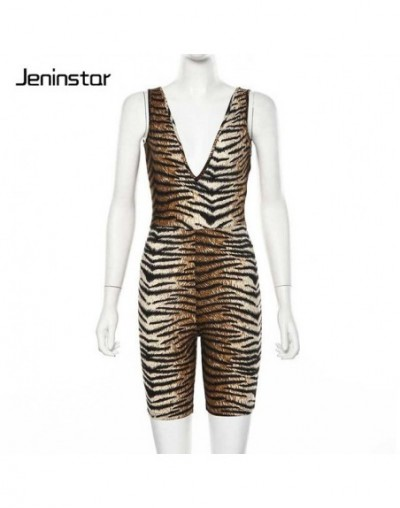 Leopard Print V-neck Sexy Playsuit Jumpsuit Women Sleeveless Rompers Womens Jumpsuit Backless Party Overalls Ladies - Tiger ...