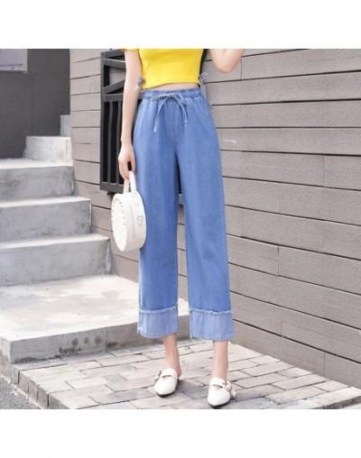 Fashion Wide Leg Jeans Woman High Wiast Pockets Boyfriend Jeans For Women Casual Side Stripe jeans plus size mom jeans femme...