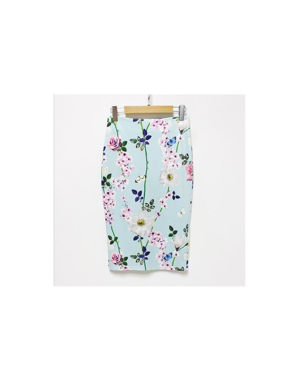 2018 New Arrival Sexy & Club Floral Pencil Skirt High Waist Vintage Bodycon Mini Skirt Women Black Skirt - 113 - 4B3971666534-6