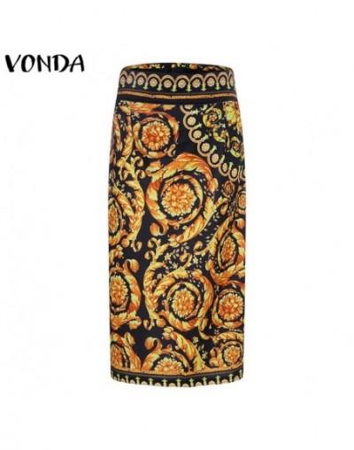 Women Skirt 2019 Summer Elegant OL Office Ladies Casual Floral Printed Midi Skirts High waist Sexy Bodycon Oversized S-5XL -...