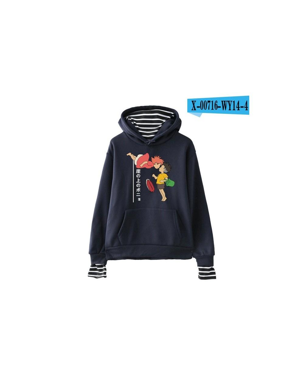 Fashion Printed Harajuku Fake Two Piece Hoodies Women Long Sleeve Hooded Sweatshirt 2019 Hot Sale Autumn Ladies Casual Cloth...