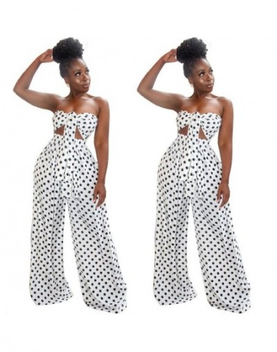 Summer Sexy 2 Piece Outfits for Women Fashion Dot Leopard Print V-neck Wrapped Chest Top Loose Wide Leg Pants Sets Plus Size...