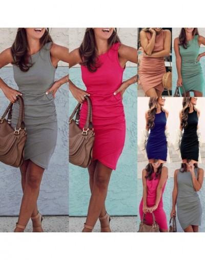Summer Dress 2018 Women Casual Beach Short Dress irregular midi Dress Sexy Party Dresses Vestidos S-XXL - Green - 4R30226253...