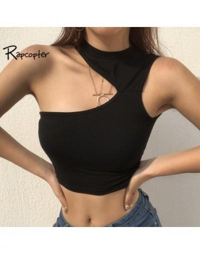 Weekeep Bodycon Halter Womens Crop Tops Off Shoulder Sleeveless Sexy T-shirt Elasticity Black Tshirt 2018 Summer Cotton Tops...