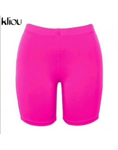 new fashion women short pants high waist elastic skinny shorts 2018 female solid color fitness sporting push up short pant -...
