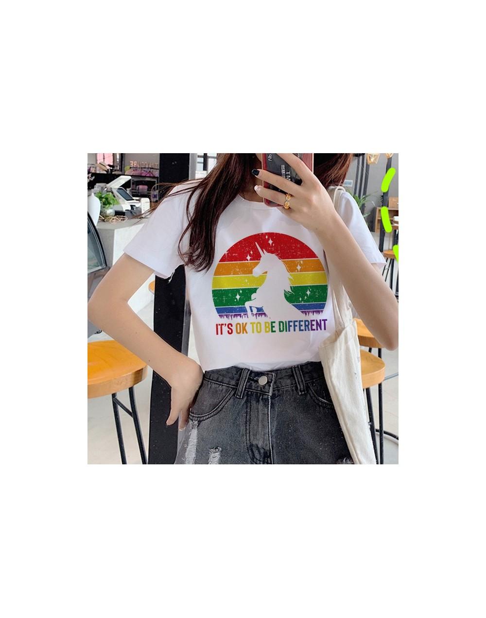 Lesbian Lgbt Harajuku Ullzang T Shirts Women 90s Gay Pride Graphic T-shirt Rainbow Cartoon Print Tshirt Fashion Top Tees Fem...