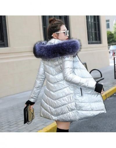 Women Winter Jacket Plus Size 2019 Fashion Womens Jacket Thick Big Fur Hooded Long Down Cotton Padded Female Coat Parka - Si...