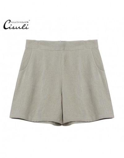 100% SIlk Shorts Women Summer Short Femme Jeans Shorts Breathable Pants Plus Size Light Grey 2XL Size - 4Q3773941499