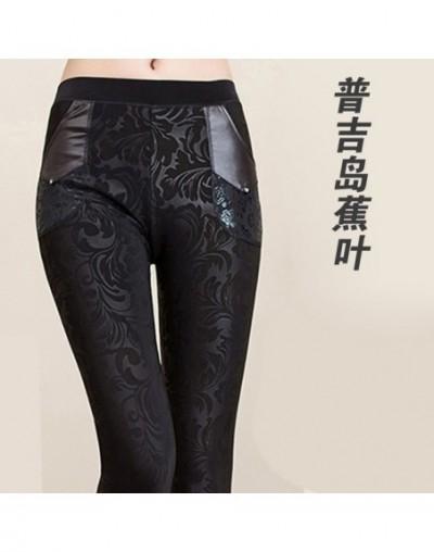 lady winter leggings women tattoo velvet Warm pants fashion floral legging cashmere capris sexy leopard crocodile black pant...