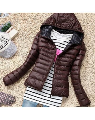 Parkas Winter Female Down Jacket Women Clothing Winter Coat Color Overcoat Women Jacket Parka - Brown - 4C3946560822-3