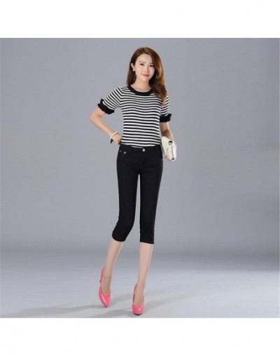 Whole cotton colour Elastic force Cropped Trousers Pencil pants high waist jeans woman skinny women jeans mujer jean plus si...