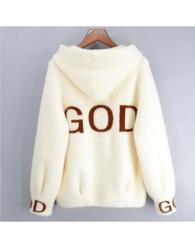 Autumn Winter Mink Cashmere Cardigan Hooded Coat Sweater Women Fashion Print Casual Mink Sweaters Thick warm Outerwear Femal...