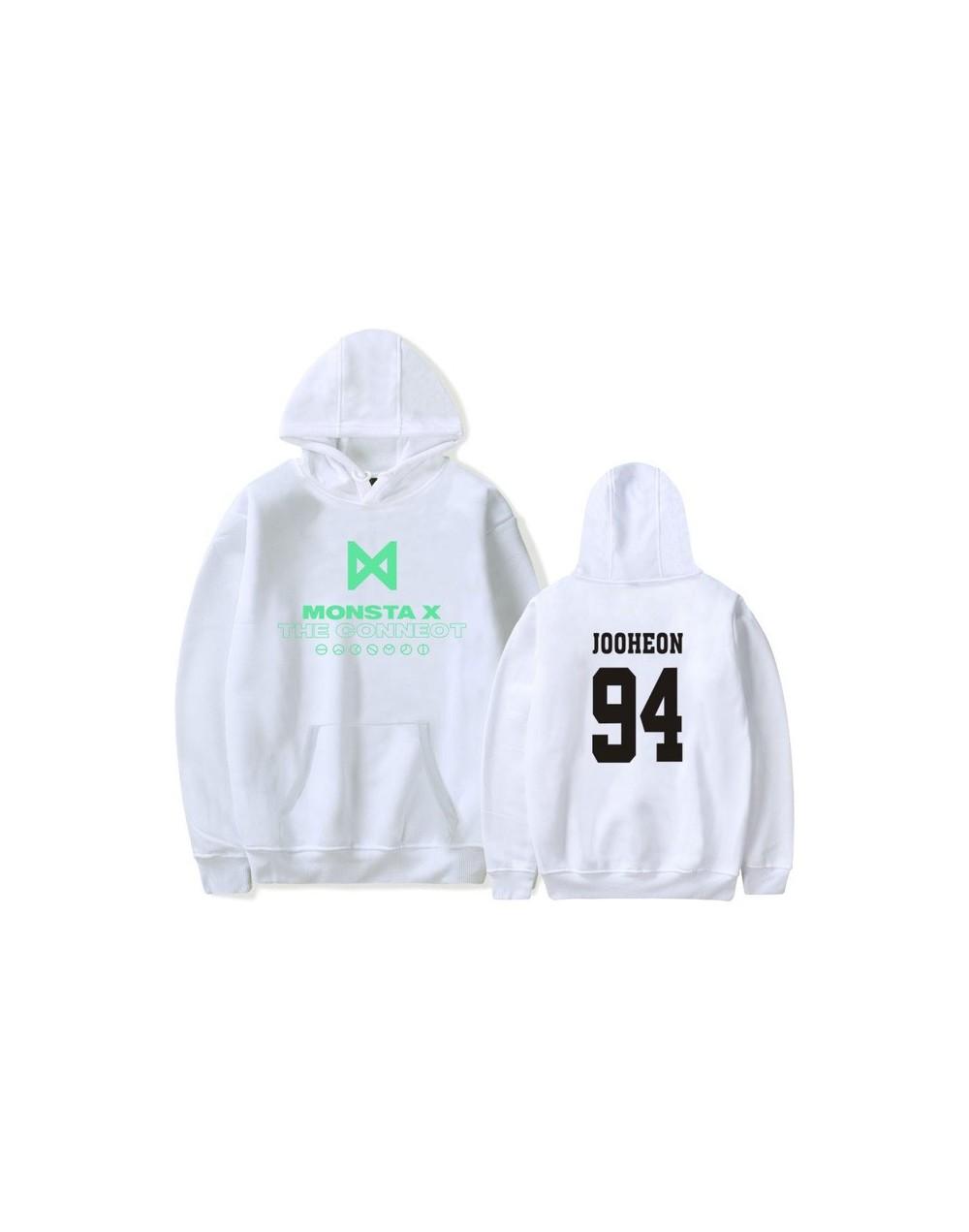 Kpop Fans Sweatshirt Women Men MONSTA X Latest Album Hoodies Long Sleeve Casual Women's Pullovers Fleece Tracksuits - White ...