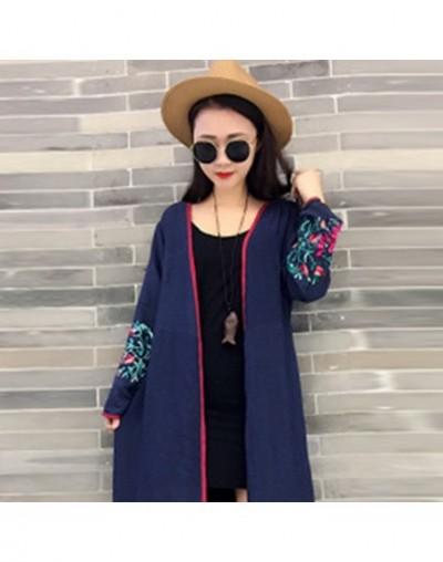 2019 Blouse Shirt Women Fashion Plus Size Embroidery Cotton Linen Womens Tops and Blouses Tassel Cardigan Vintage Harajuku -...