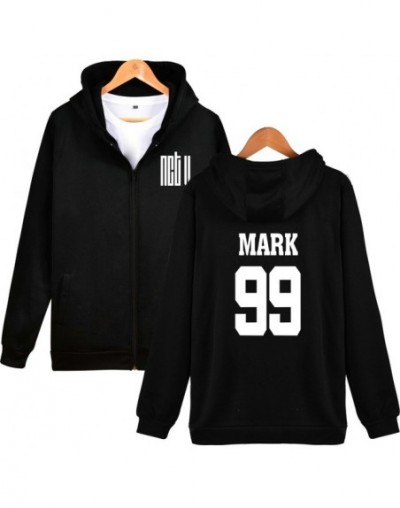 Fashion Kpop NCT U Member Name Print Fans Support Zipper Hoodies Sweatshirt Women Men Popular Idol Group NCT U Clothes - Bla...